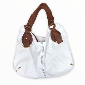 ALDO Womans White Shoulder Bag Tote Purse